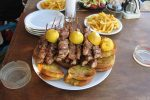 Famous food in Santorini Island