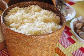 ラオスの主食、カオニャオ