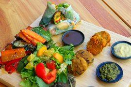 ベトナムハノイJalu Vegan Kitchen&Caféの料理