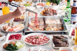 シンガポールgorogoro-steamboat-korean-buffetの料理