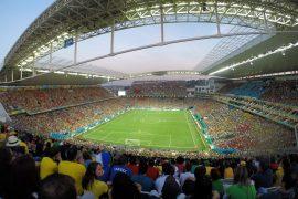 イタケロンスタジアムの試合風景
