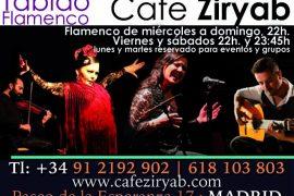 スペインマドリードCafé Ziryab Tablao Flamencoのフラメンコ
