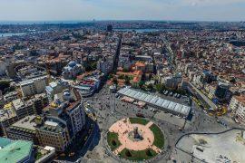 タクシム広場の上空写真
