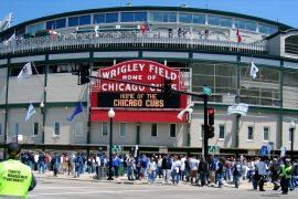 シカゴカブスのホーム球場、リグレー フィールド入り口