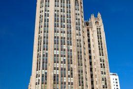 ザ シカゴ トリビューンを発行する新聞社の本社ビル