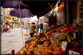 ケンジントン マーケットの果物屋