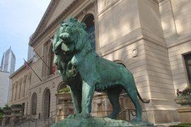 シカゴ美術館のライオン像