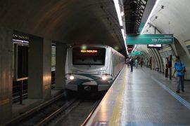サンパウロの地下鉄のホーム