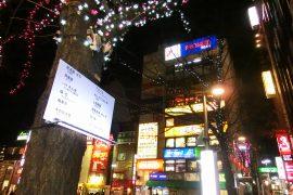夜の中野駅前