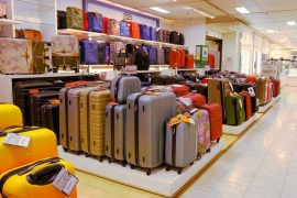 スーツケース売り場の様子