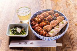 京橋のランチの焼き鳥丼